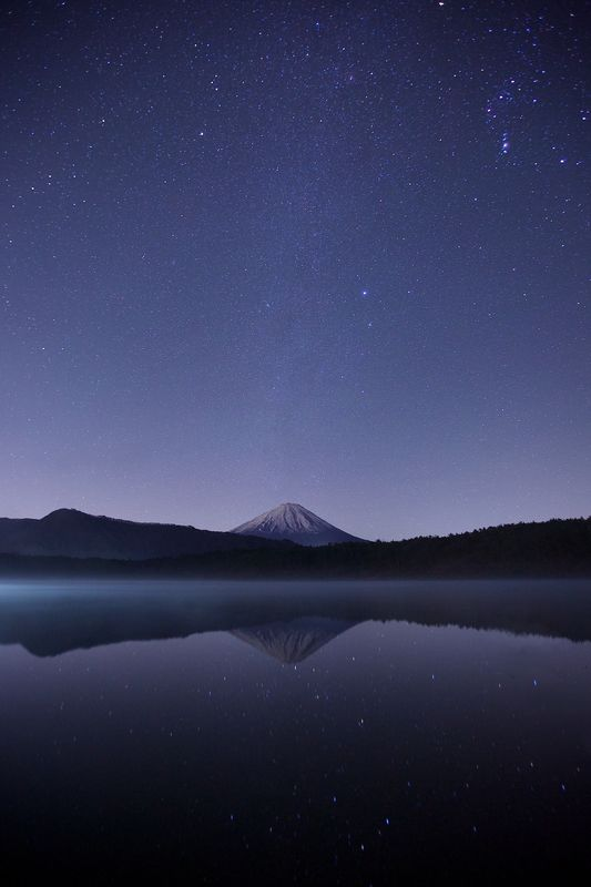 Photo of Starry Sky over Mountain