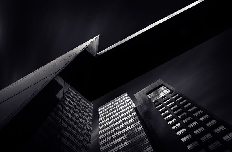 Photo of Abstract Office Buildings in the Night