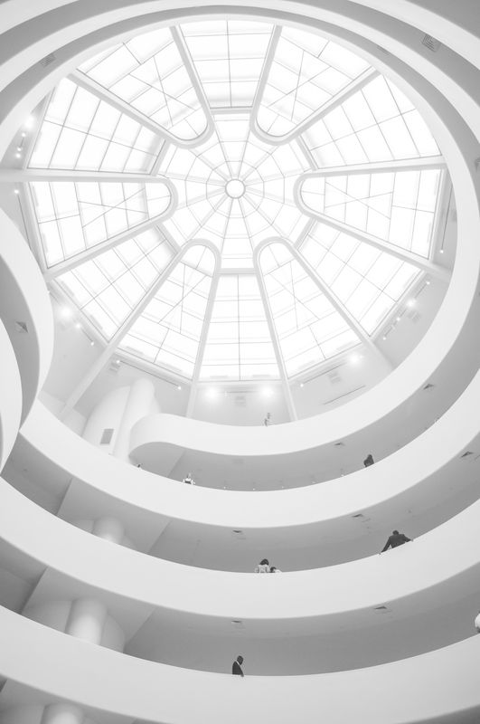 Photo of Staircase and Glass Dome Ceiling