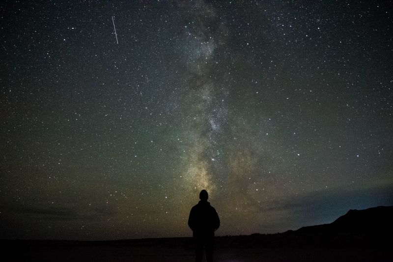 Photo of Person Stargazing