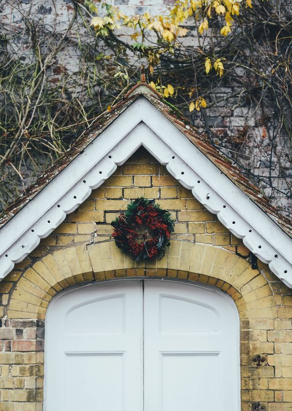 Photo of House with Wreath