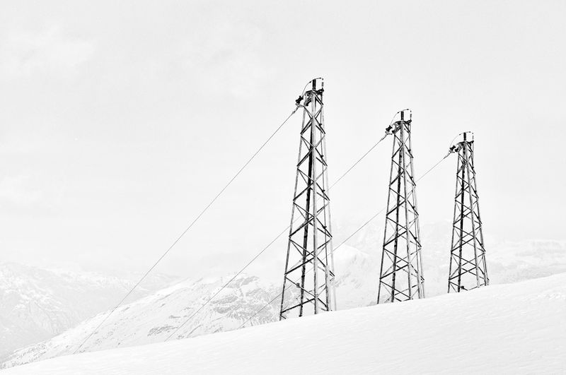 Photo of Metal Structure on Snowy Mountain