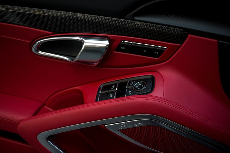 Photo of Red Leather Car Interior