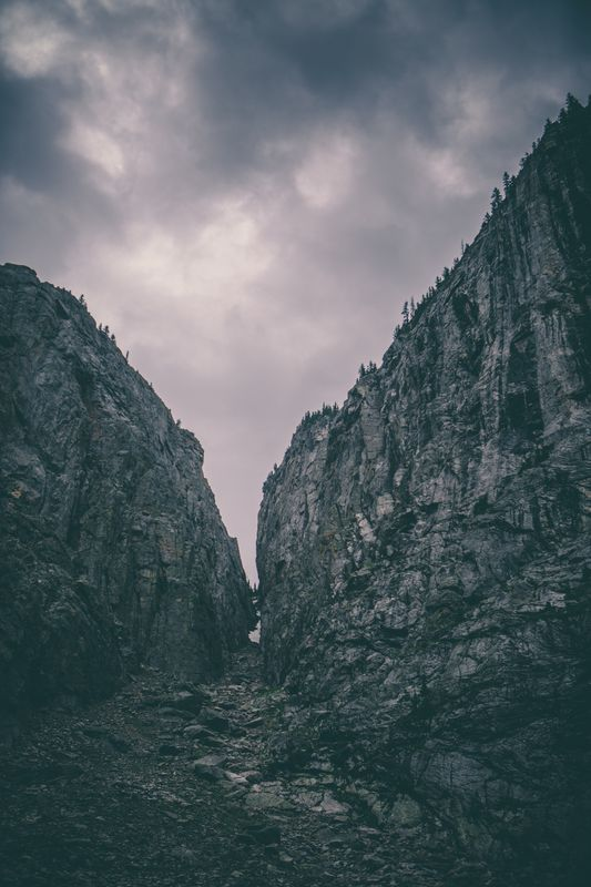 Photo of Mountains and Rock Cliffs