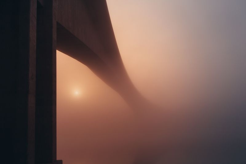 Photo of Bridge in Fog