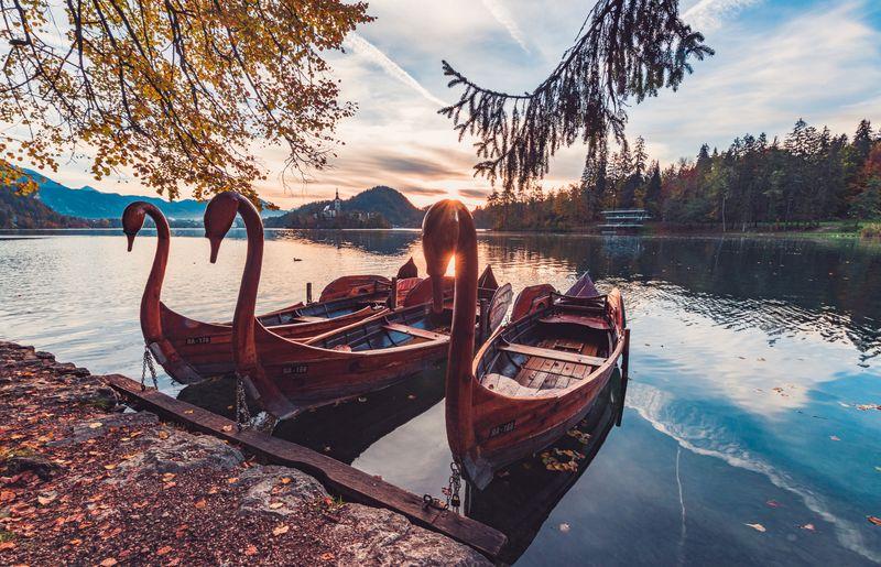 Photo of Boats on a Lake