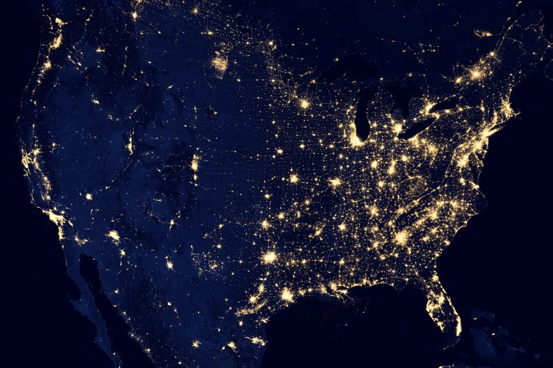 Photo of United States from Space