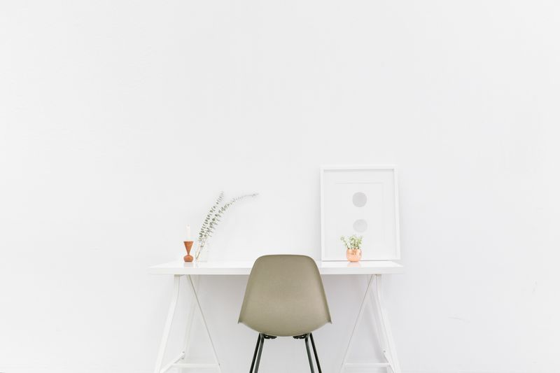Photo of White Desk in White Room