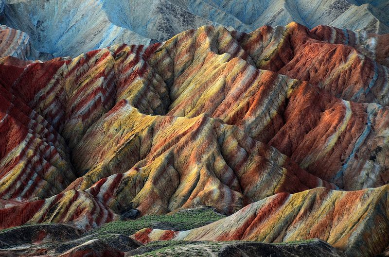 Photo of Multicolored Mountains