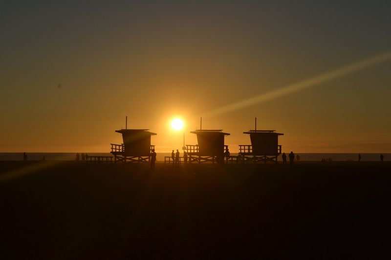 Photo of Beach Towers Silhouette