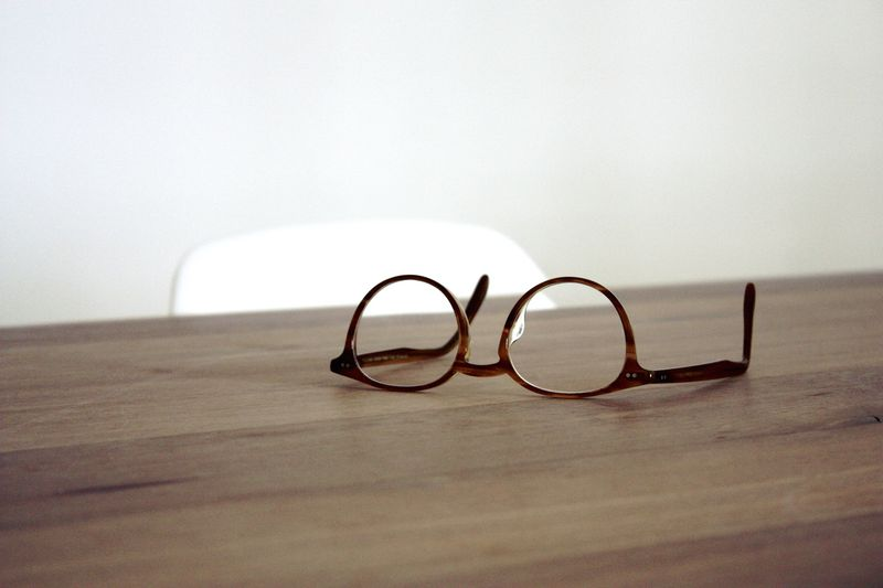 Photo of Eyeglasses on a Table
