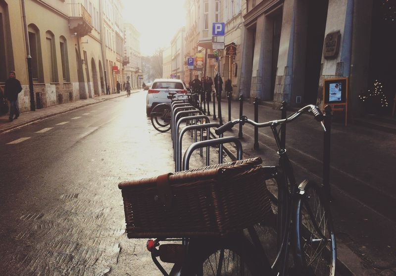 Photo of Bicycle Parked on a City Street