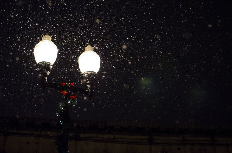 Photo of Light Post in the Snow