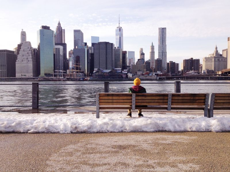 Photo of Person on New York Bench