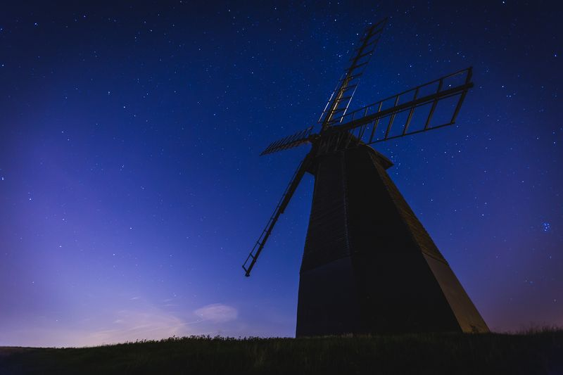 Photo of Windmill at Night