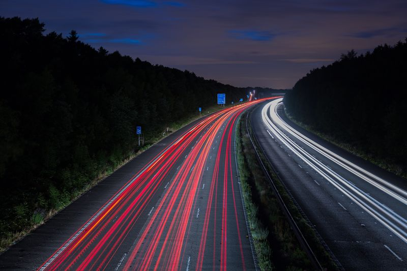 Photo of Timelapse of Road at Night