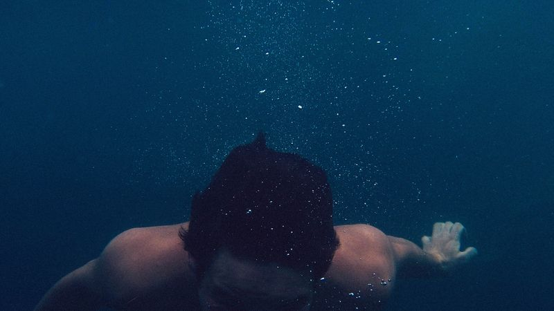 Photo of Man Underwater