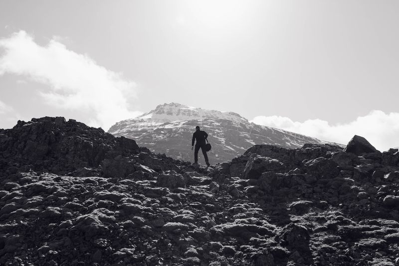 Photo of Man Hiking in Mountains