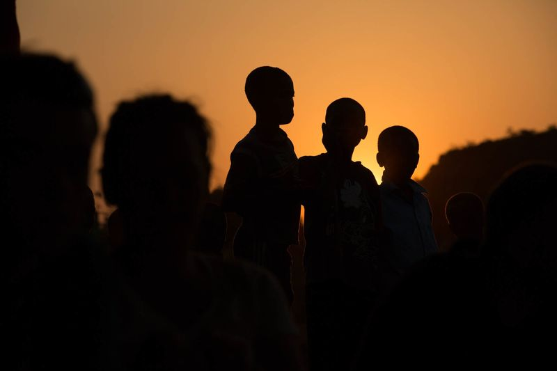 Photo of Children Silhouette