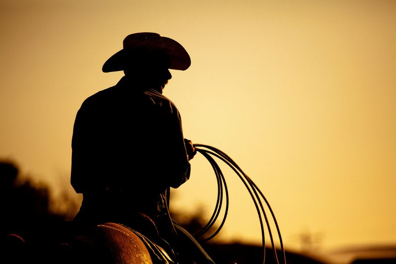 Photo of Cowboy Silhouette
