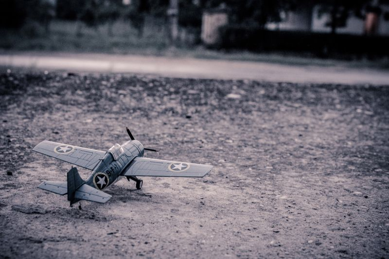 Photo of Toy Airplane on Ground