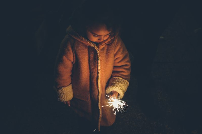 Photo of Girl with Sparkler