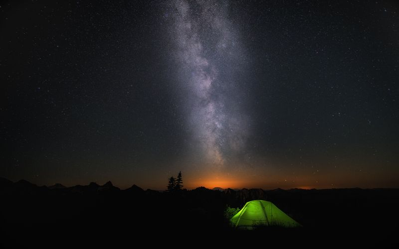 Photo of Tent under Starry Sky