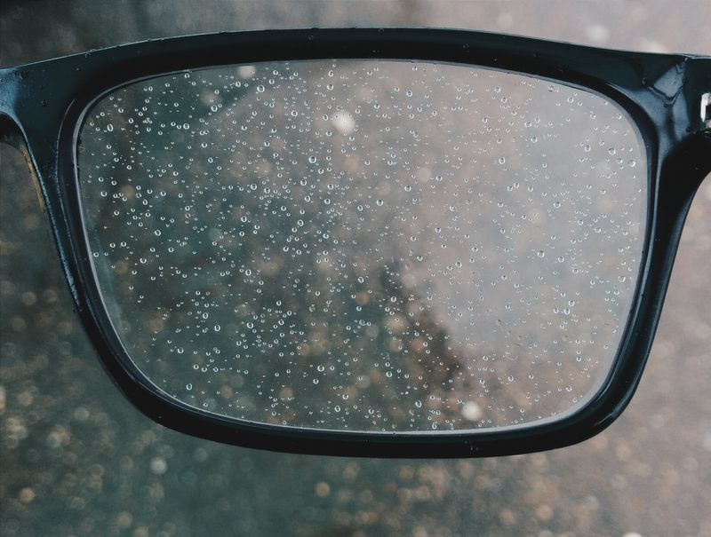 Photo of Water Droplets on Eyeglasses