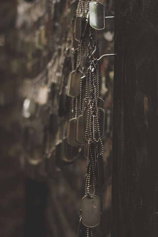 Photo of Dog Tags Hanging