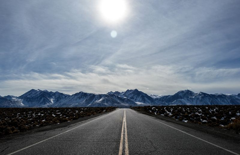 Photo of Highway Towards Mountains
