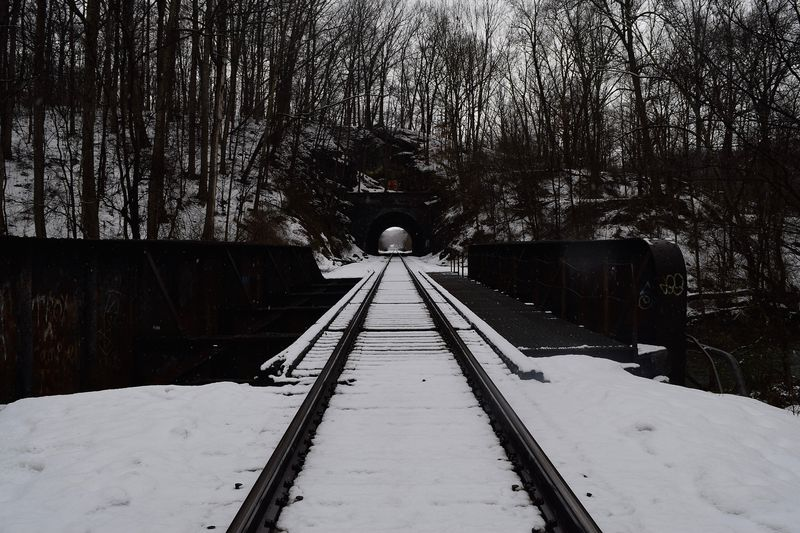 Photo of Train Tracks in Snow