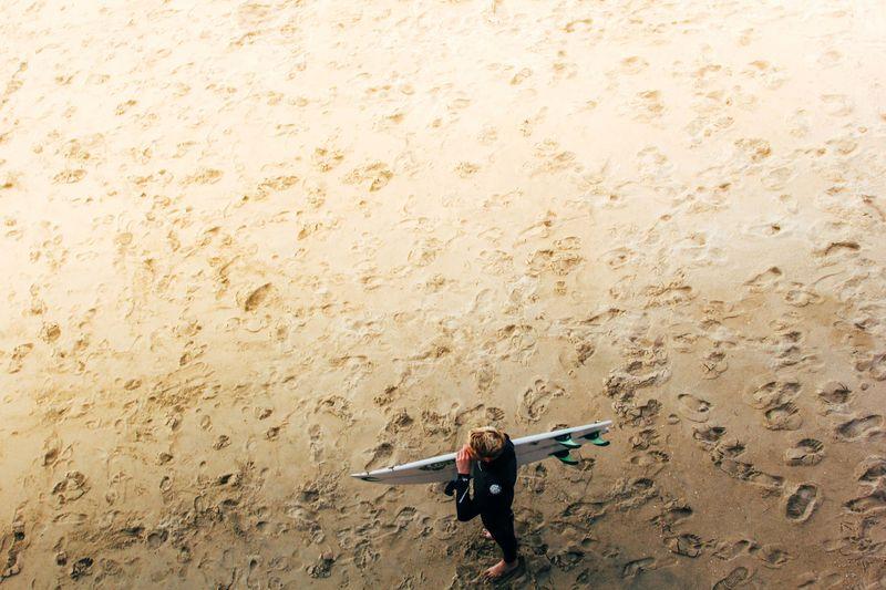 Photo of Surfer on Beach