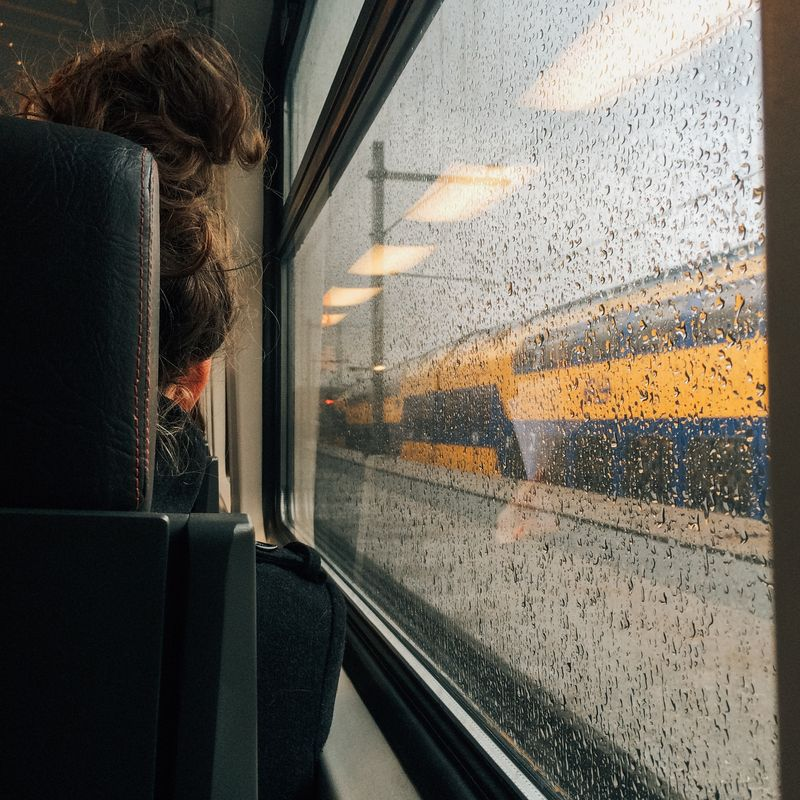 Photo of Woman on Train