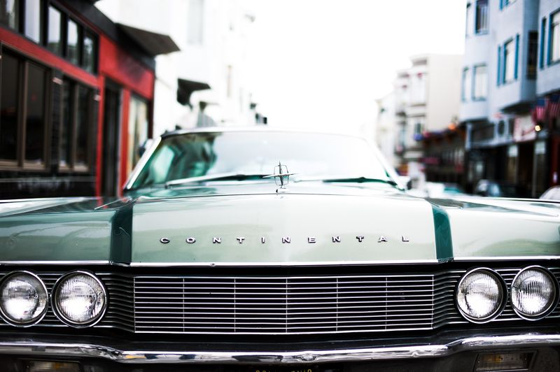 Photo of Front of Vintage Car