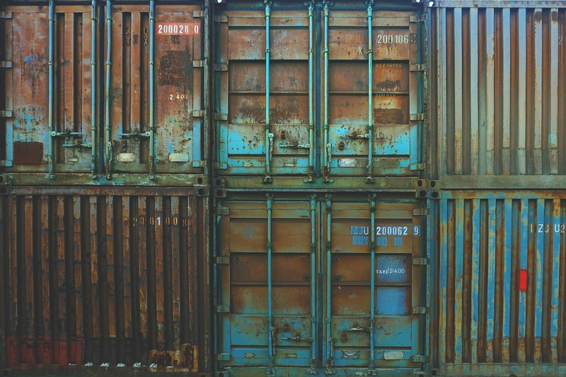 Photo of Rusty Shipping Containers