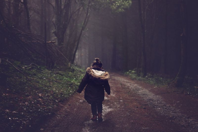 Photo of Girl on Forest Path