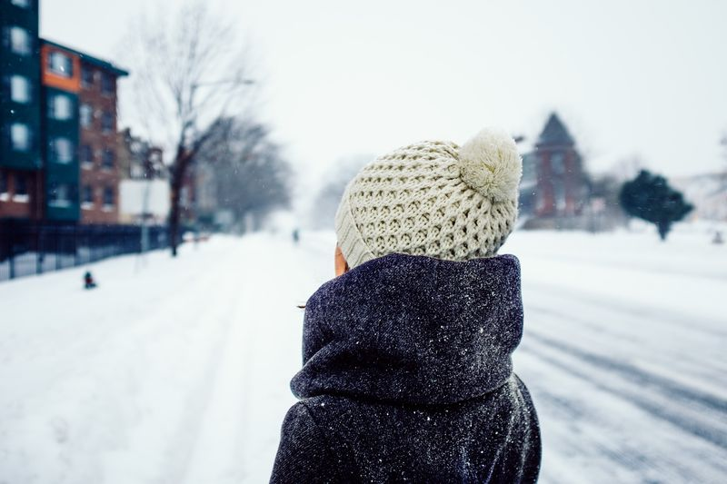 Photo of Woman in Snow