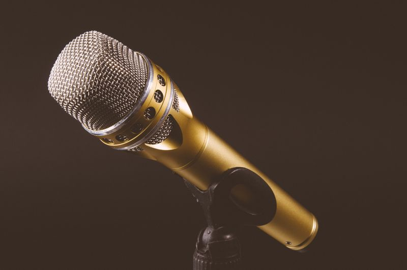 Photo of Gold Microphone