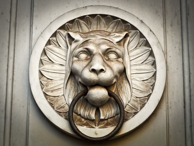 Photo of Lion Head Door Knocker