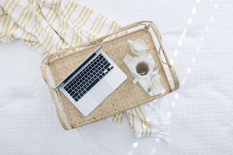 Photo of Laptop and Tea
