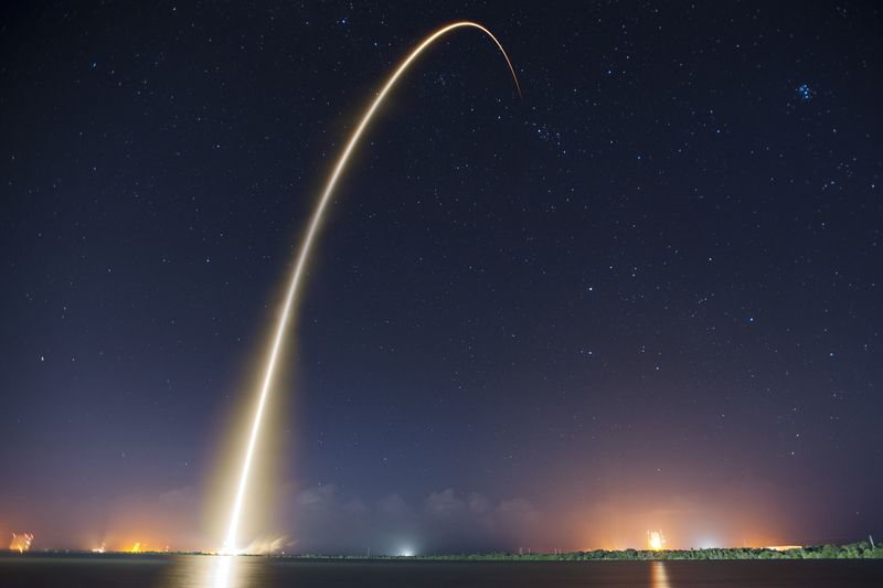 Photo of Rocket Launch at Night