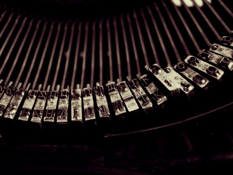 Photo of Letters on Typewriter