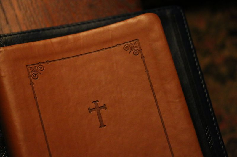 Photo of Leather Book with Cross