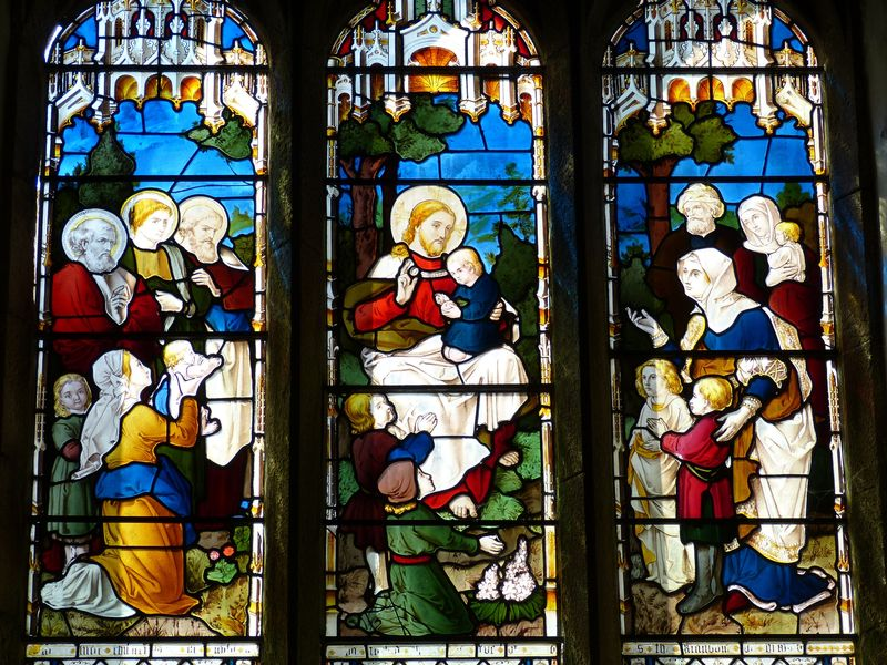 Photo of Jesus Teaching Stained Glass