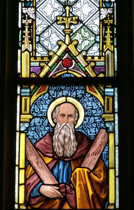 Photo of Old Man Stained Glass