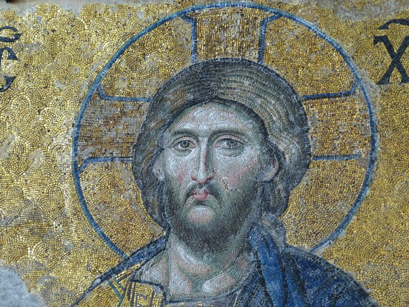 Photo of Mosaic Icon of Christ
