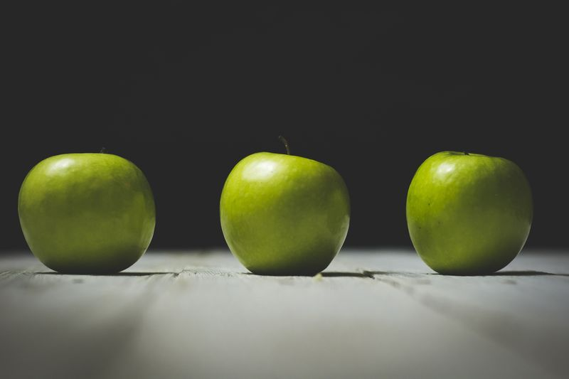 Photo of Three Green Apples