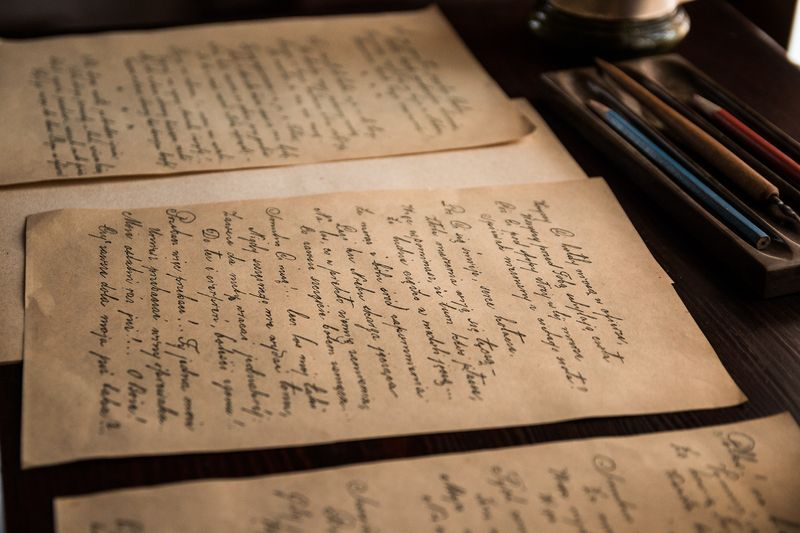 Photo of Old Handwritten Letters