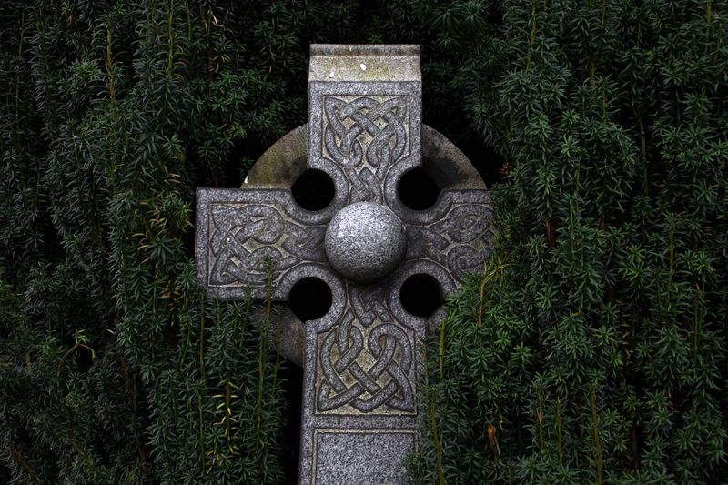 Photo of Stone Cross and Bushes