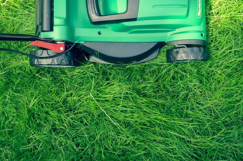 Photo of Lawn Mower in Yard